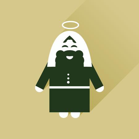 bible shepherd: Flat icon with long shadow Father Jesus Christ