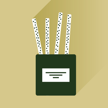 partisan: flat icon with long shadow cheese sticks