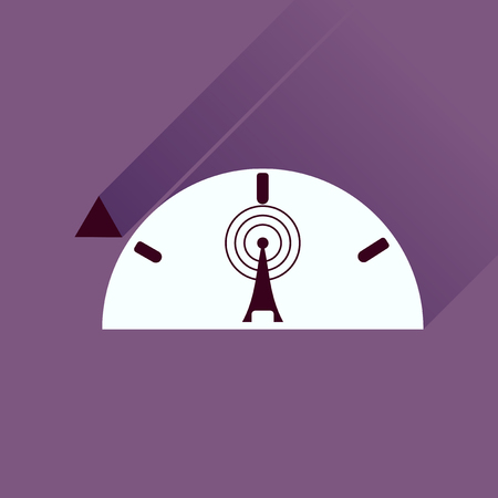 modem: Flat icon with long shadow modem Illustration