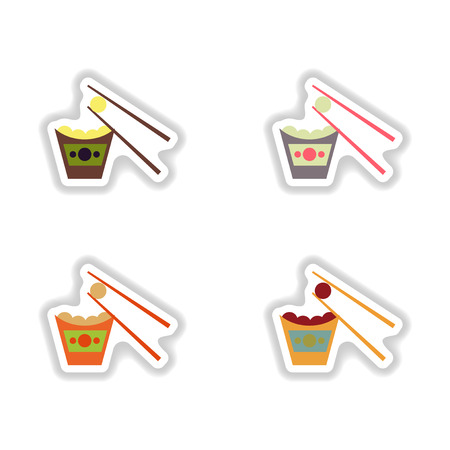 savoury: assembly paper stickers cheese balls and sticks