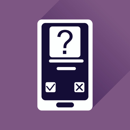 availability: Flat web icon with long shadow mobile Applications