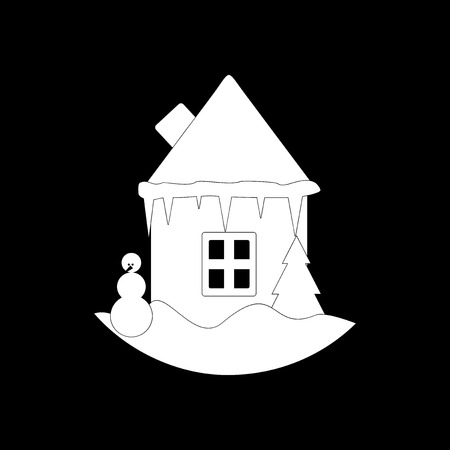 snowball: flat icon in black and white style snowball