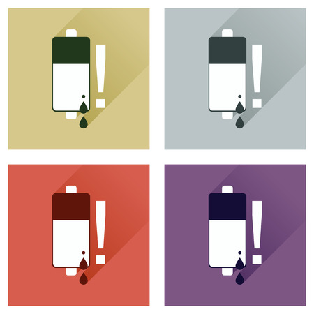 cadmium: Concept of flat icons with long shadow battery charge