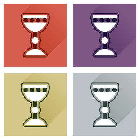 grail: Concept of flat icons with long shadow Holy Grail Illustration