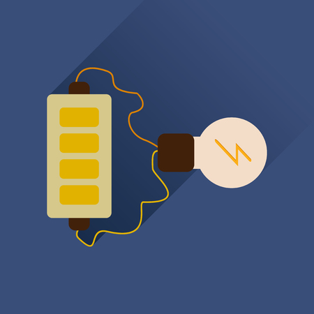 cadmium: Flat web icon with long shadow battery charge