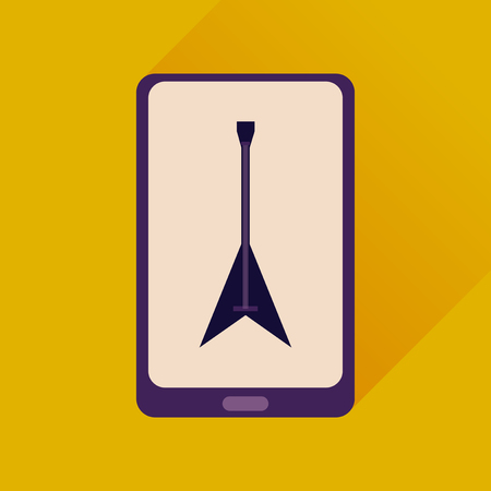 touchphone: Flat web icon with long shadow mobile phone Illustration