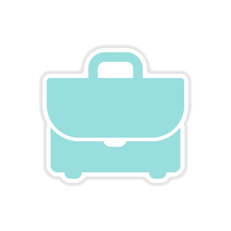 business case: paper sticker on white  background business case