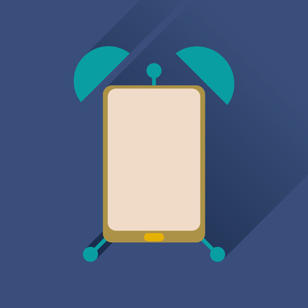 sleeping tablets: Flat icon with long shadow  mobile applications