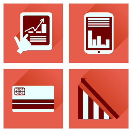 financial managers: Concept of flat icons with  long shadow  economy Illustration
