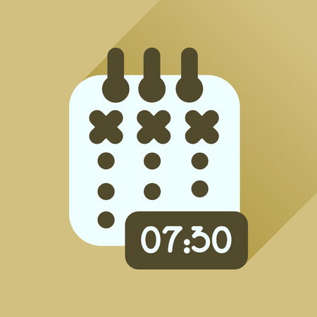 diary: Flat icon with long  shadow diary business