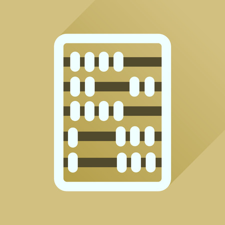schoolkid: Flat icon with long  shadow abacus business Illustration