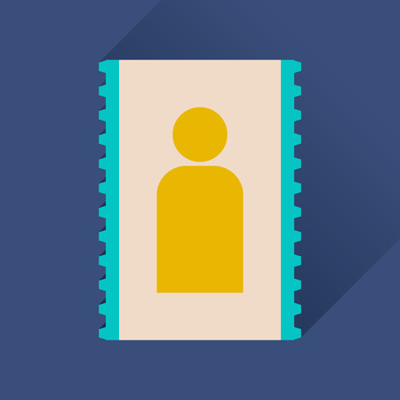 drivers: Flat icon with long shadow   personal contact Illustration