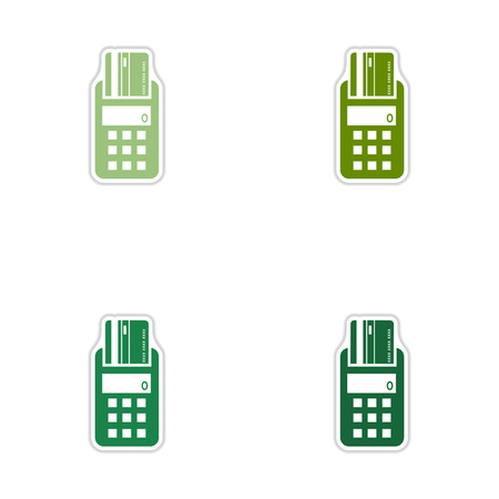 pincode: Set of paper stickers on white  background  terminal Illustration