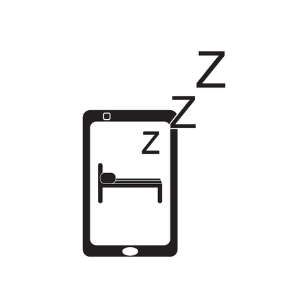 switched: Flat icon in black and  white mobile phone switched off Illustration