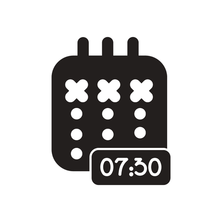 diary: Flat icon in black and white  diary Illustration