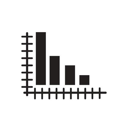 unite: Flat icon in black and white  economic graph