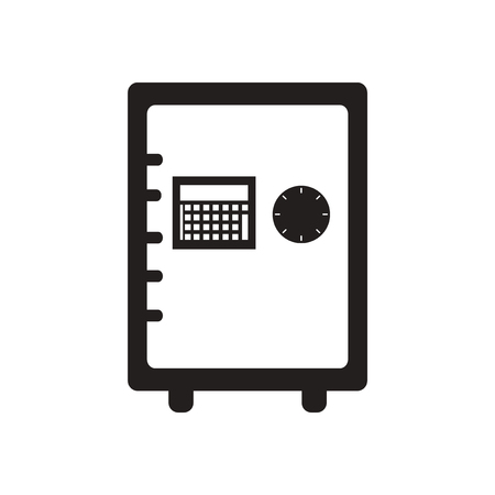 secrecy: Flat icon in black and white  safe Illustration