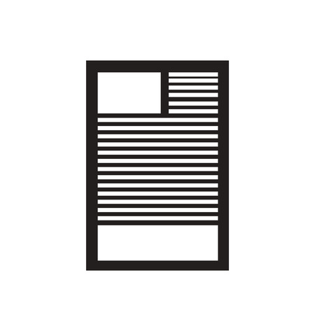bureaucracy: Flat icon in black and white  document Illustration