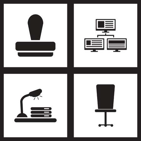 share prices: Concept flat icons in black and white  economy Illustration