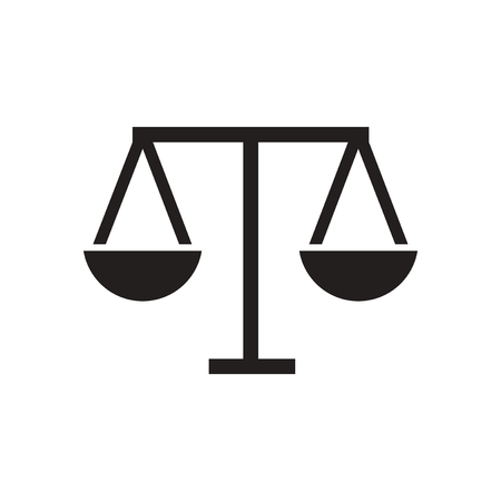 trial balance: Flat icon in black and  white scales Illustration