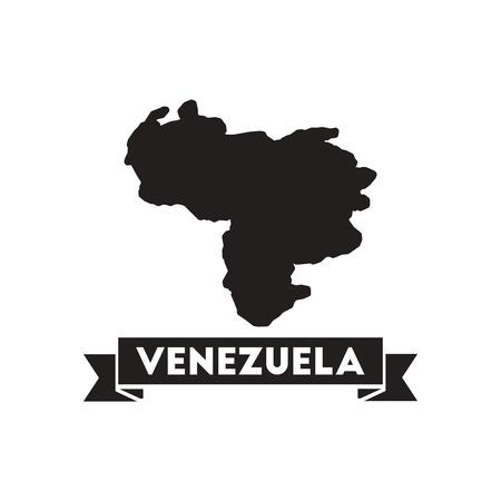 mapa de venezuela: icono de Piso en mapa en blanco y negro de Venezuela