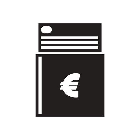 chequera: Piso en icono del talonario de cheques en blanco y negro