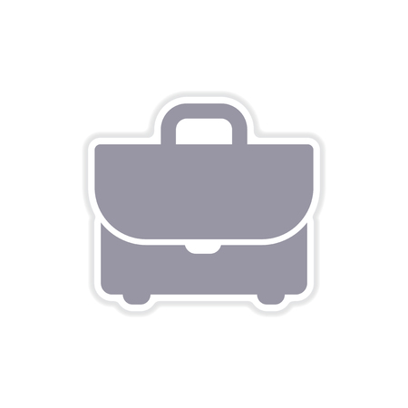 attache: paper sticker on white  background business case
