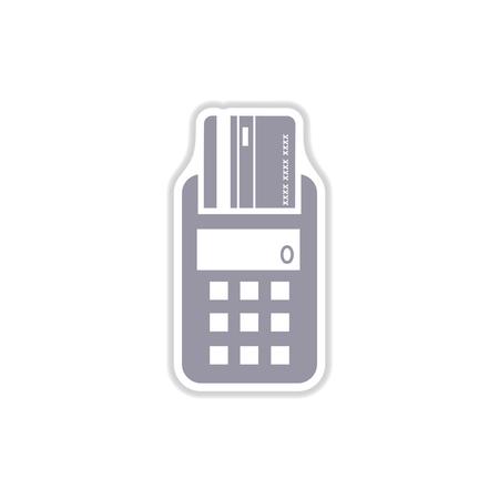 pincode: paper sticker on white  background   terminal