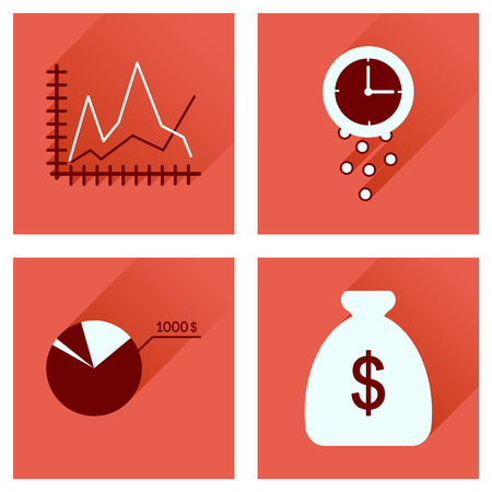 credit risk: Concept of flat icons with long  shadow economy
