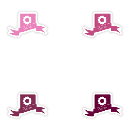 communicator: Set paper sticker on white background  Mobile Phone Options