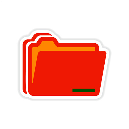 classify: paper sticker on white  background folders for documents