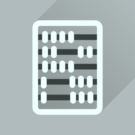 abacus: Flat icon with long  shadow abacus business Illustration