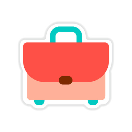 paper case: paper sticker on white  background business case