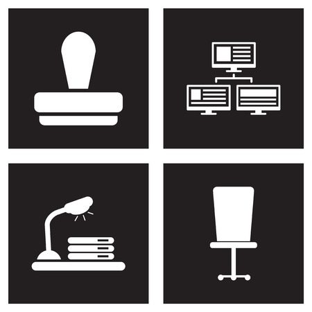 dividend: Concept flat icons in black and white economy Illustration