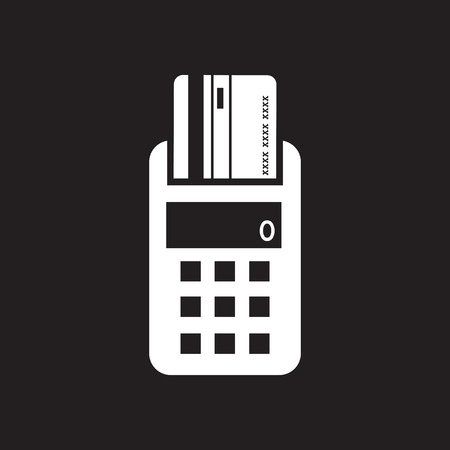 pincode: Flat icon in black and white terminal