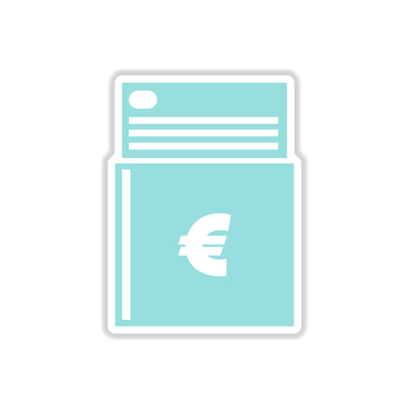 checkbook: paper sticker on white  background checkbook