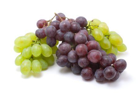 sauternes: vine grapes on white isolated