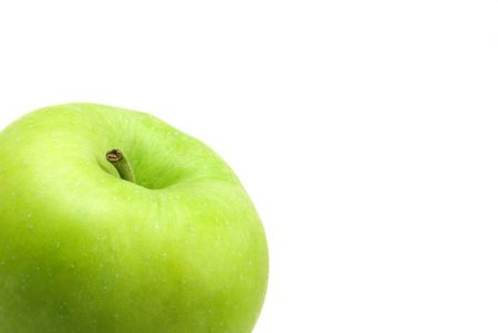 pectin: fresh green apple on white background