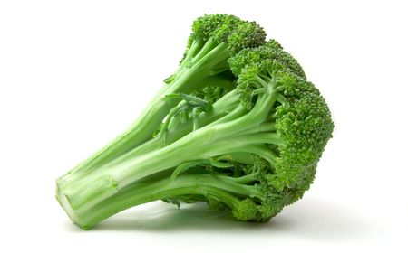 green broccoli isolated on white background
