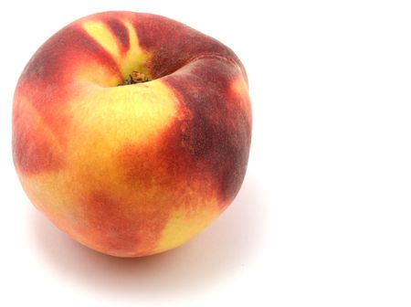 isolated peach on white background photo