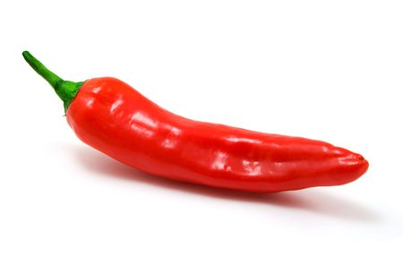 red pepper isolated on white background Stock Photo - 2824613