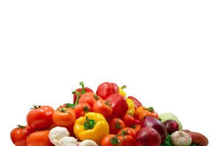 wet vegetables isolated on the white background photo