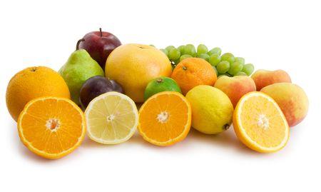 fresh fruits isolated on the white background Stock Photo - 3178227