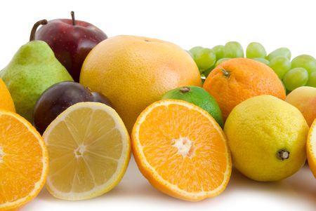 fresh fruits isolated on the white background Stock Photo - 3178244