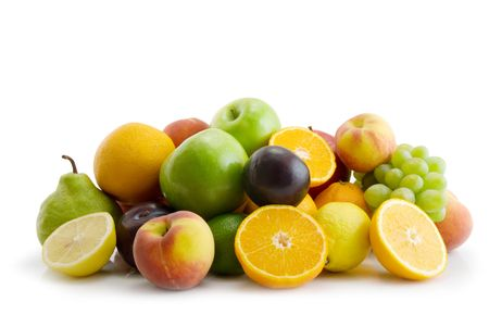 fresh fruits isolated on the white background Stock Photo - 3178234