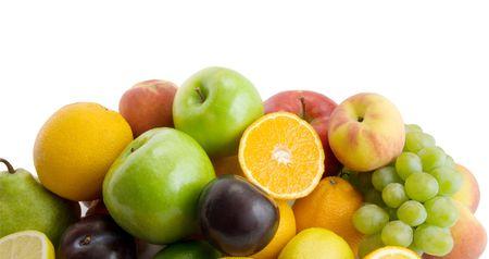 fresh fruits isolated on the white background Stock Photo - 3178233