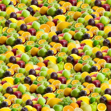 collection of fresh fruits background photo
