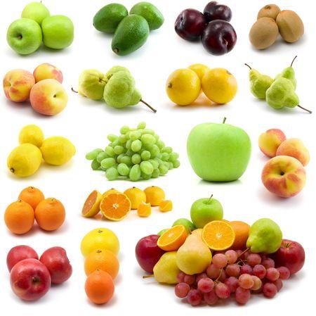 fresh fruits isolated on the white background Stock Photo - 3270964