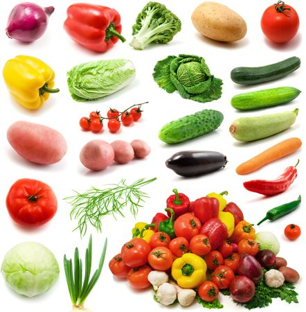 large page of vegetables isolated on the white background Stock Photo - 3270976