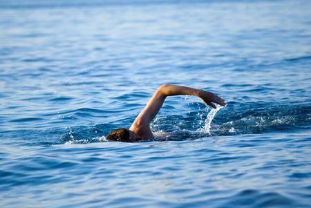 swimming man in ocean Stock Photo - 3518336